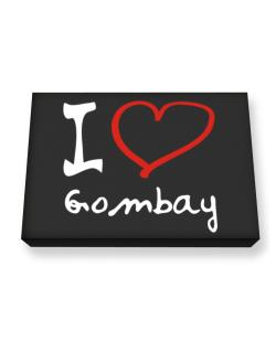 I Love Gombay Canvas square