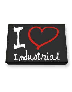 I Love Industrial Canvas square