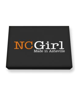Girl Made In Asheville Canvas square