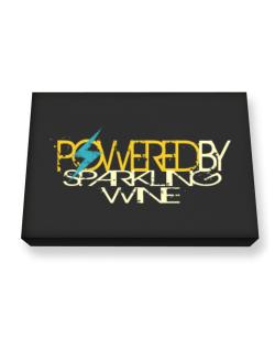 Powered By Sparkling Wine Canvas square