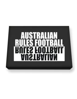 Australian Rules Football Negative Canvas square