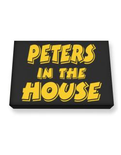 Peters In The House Canvas square