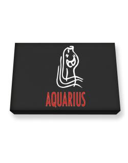 Aquarius - Cartoon Canvas square