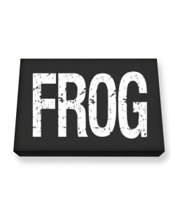 Frog - Vintage Canvas square