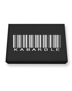 Kabarole Barcode Canvas square