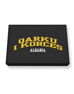 Country Qarku I Korces Canvas square