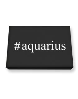 #Aquarius - Hashtag Canvas square