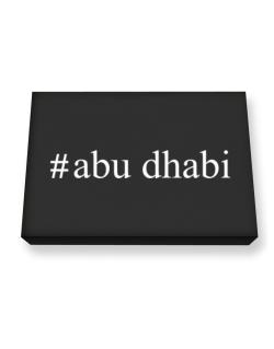 #Abu Dhabi - Hashtag Canvas square