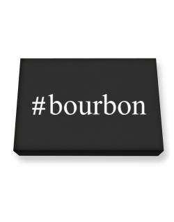 #Bourbon Hashtag Canvas square