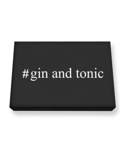 #Gin and tonic Hashtag Canvas square