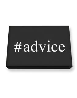 #Advice - Hashtag Canvas square