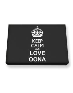 Keep calm and love Oona Canvas square