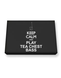 Keep calm and play Tea Chest Bass - silhouette Canvas square
