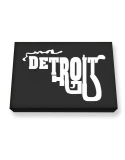 Detroit gun style Canvas square