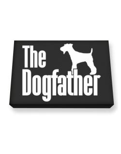 The dogfather Fox Terrier Canvas square