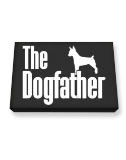 The dogfather Rat Terrier Canvas square