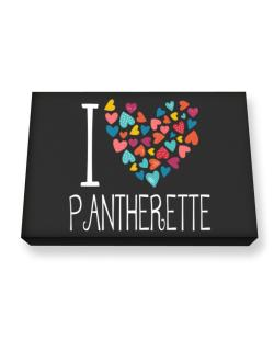 I love Pantherette colorful hearts Canvas square