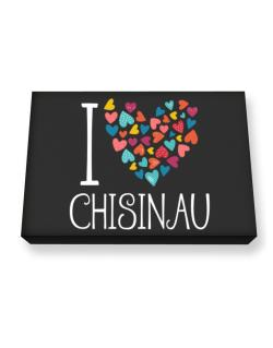 I love Chisinau colorful hearts Canvas square