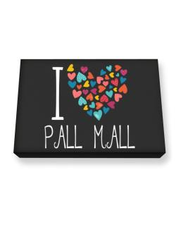 I love Pall Mall colorful hearts Canvas square