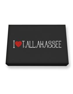 I love Tallahassee cool style Canvas square