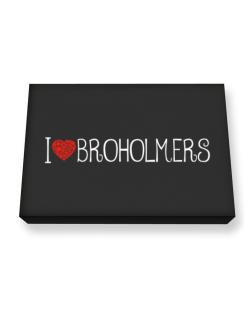I love Broholmers cool style Canvas square