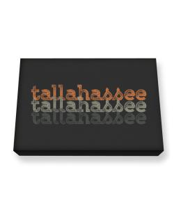 Tallahassee repeat retro Canvas square