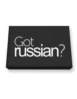 Got Russian? Canvas square