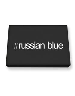 Hashtag Russian Blue Canvas square