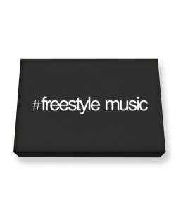 Hashtag Freestyle Music Canvas square