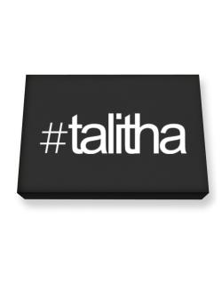 Hashtag Talitha Canvas square