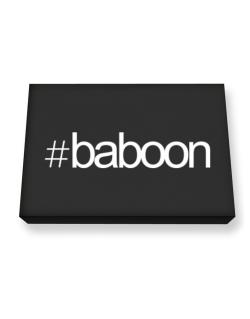 Hashtag Baboon Canvas square