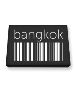 Bangkok barcode Canvas square