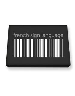 French Sign Language barcode Canvas square