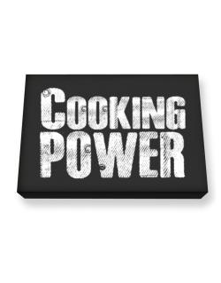Cooking power Canvas square