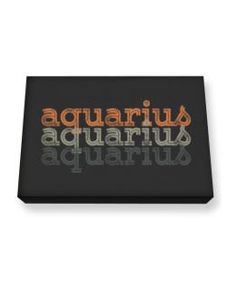 Aquarius repeat retro Canvas square