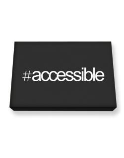 Hashtag accessible Canvas square