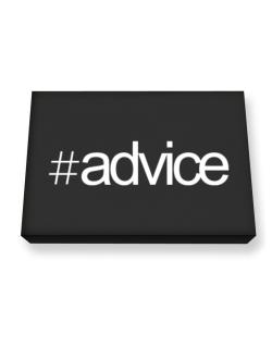 Hashtag Advice Canvas square