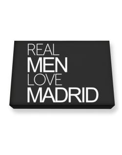Real men love Madrid Canvas square