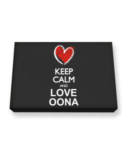 Keep calm and love Oona chalk style Canvas square