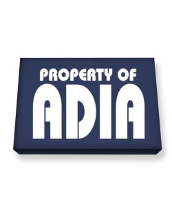 Property Of Adia Canvas square
