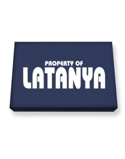 Property Of Latanya Canvas square