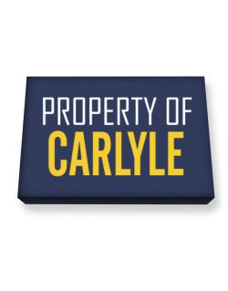 Property Of Carlyle Canvas square