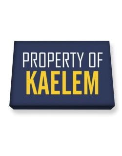 Property Of Kaelem Canvas square