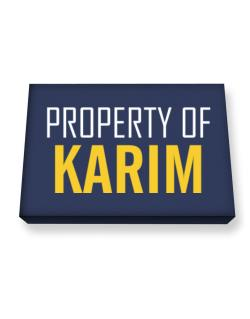 Property Of Karim Canvas square
