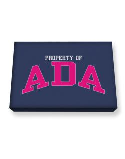 Property Of Ada Canvas square
