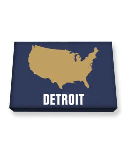 Detroit - Usa Map Canvas square