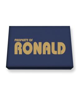 Property Of Ronald Canvas square