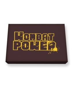 Wombat Power Canvas square