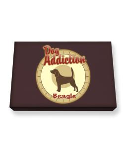 Dog Addiction : Beagle Canvas square
