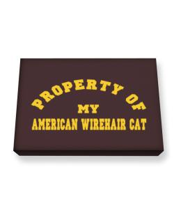 Property Of My American Wirehair Canvas square